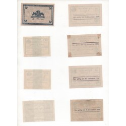NOTGELD - LEIPZIG - 8 different notes - 1918 (L054 A)