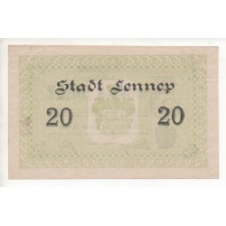 NOTGELD - LENNEP - 20 mark (L055)