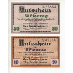 NOTGELD - LIEBERTWOLKWITZ - 2 different notes (L066)
