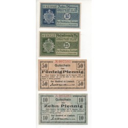 NOTGELD - LIMBACH - 4 different notes (L070)