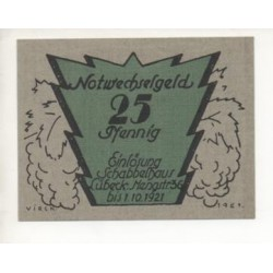 NOTGELD - LÜBECK - 25 pfennig - Carton - RARE (L091)