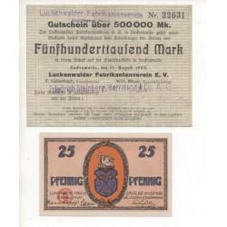 NOTGELD - LUCKENWALDER - 2 different notes (L100)