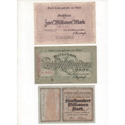 NOTGELD - LUDWIGSHAFEN - 10 different notes (L105)