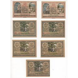 NOTGELD - LUTZHOEFT - 7 different notes - VARIANTE - small numbers (L115)