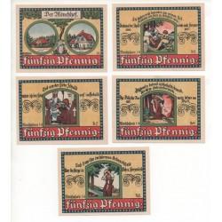 NOTGELD - MANEBACH - 5 different notes - 1921 (M014)