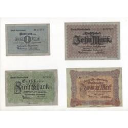 NOTGELD - MARKTREDWITZ - 4 different notes (M028 A)