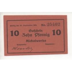 NOTGELD - MICHELWERKE - 10 pfennig (M052)
