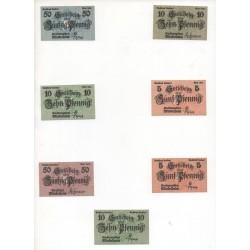 NOTGELD - MIDELHEIM - 7 different notes - VARIANTE (M053)