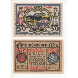NOTGELD - MIESBASH - 2 different notes (M055)