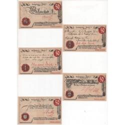 NOTGELD - MUHLHAUSEN - 5 different notes - 1921 (M084)