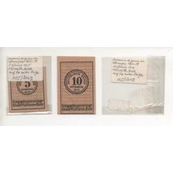 NOTGELD - MULHEIN - 2 different notes - PRISONNIER de guerre 1914-1918 (M087)