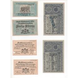 NOTGELD - MUHLHAUSEN - 10 different notes - VARIANTE (M089)
