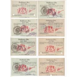NOTGELD - MULHAUSEN - 12 different notes - VARIANTE - RARE (M091)