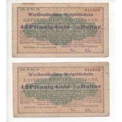 NOTGELD - MUNCHEN - 2 different notes (M100)
