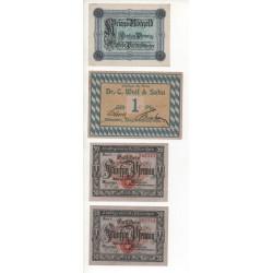 NOTGELD - MUNCHEN - 4 different notes (M104)