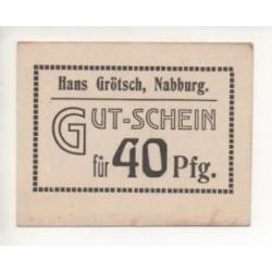 NOTGELD - NABBURG - 40 pfennig (N001)