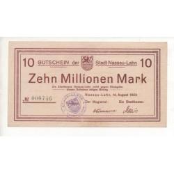 NOTGELD - NASSAU LAHN - 10 millionen mark (N008)