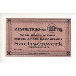 NOTGELD - NIEDERSEDLITZ - 10 pfennig (N073)