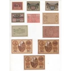 NOTGELD - NORDLINGEN - 11 different notes (N092)