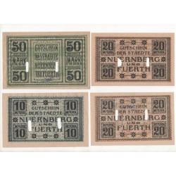NOTGELD - NURMBERG - 10 different notes (N099)