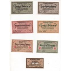 NOTGELD - OSTERHOLZ - 7 different notes (O017)