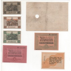 NOTGELD - OELSNITZ - 7 different notes (O030)