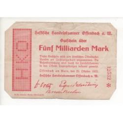 NOTGELD - OFFENBACH - 5 milliarden mark (O035)