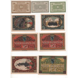 NOTGELD - POSSNECK - 12 different notes (P041)