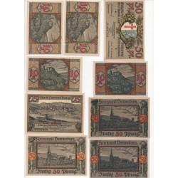 NOTGELD - RAA BESENBEK - 9 different notes (R001)