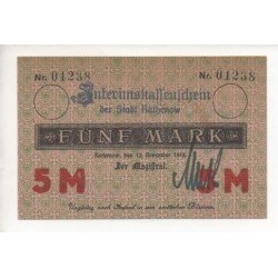 NOTGELD  RATHENOW - 5 mark (R016)