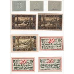 NOTGELD  REICHEN HALL - 15 different notes (R030)