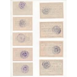 NOTGELD  RINTELN - 9 different notes - VARIANTE (R059)