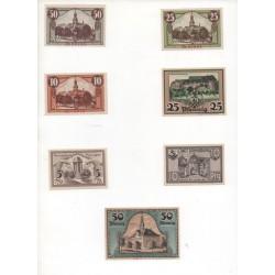 NOTGELD - RONNEBURG - 7 different notes (R067)