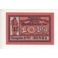 NOTGELD - ROSITZ - 10 pfennig (R070)