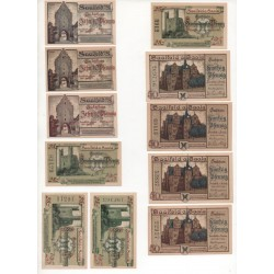 NOTGELD  SAALFEED - 11 different notes - VARIANTE numbers & print (S003)