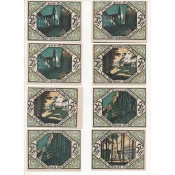 NOTGELD  SCHEIBENBERG - 12 different notes - VARIANTE 5 & 6 numéros (S040)