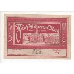 NOTGELD SCHWABISCH - 5 millionen mark - 1923 (S049)