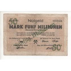 NOTGELD SIEGEN - 5 millionen mark (S091)