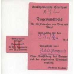 NOTGELD STUTTGARD - Tagesausweis für Brot und Mehl (S148)