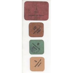 NOTGELD  SCHOLVEN - 5 different notes - TRES RARE - CAMP PRISONNIER (S200)