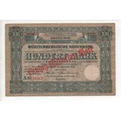NOTGELD  STUTTGART - 100 mark 50 milliarden mark - 1918 (S207)