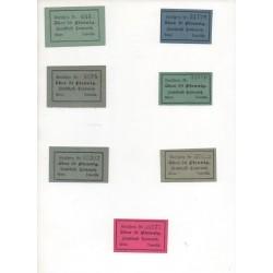NOTGELD  TARNOWITZ - 7 different notes (T006)