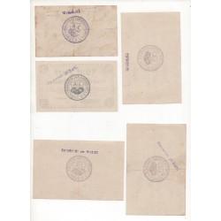NOTGELD  SORAU - 5 different notes (S119)