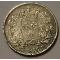 2 FRANCS CHARLES X 1826 D LYON P/SUP