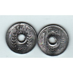INDOCHINE 1 cent. 1943 aluminium neuve