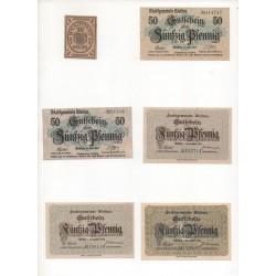 NOTGELD WEIDEN - 6 different notes (w022)