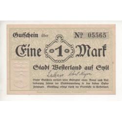 NOTGELD WESTERLAND - 1 mark (W050)
