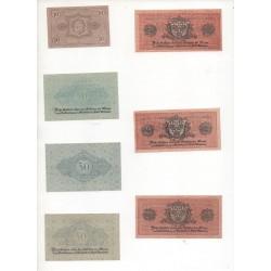 NOTGELD  WIESBADEN - 7 different notes - 1917-1919 (W060 B)