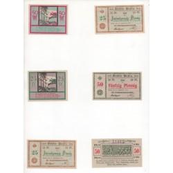 NOTGELD  RUHLA - 6 different notes (R091 B)