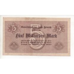 NOTGELD  UBERRUHR - 5 millionen mark (U001)